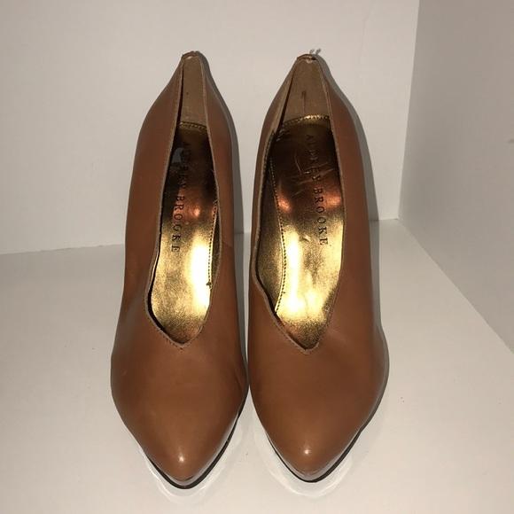 f45ec59e6c Audrey Brooke Shoes | Brown Leather Heels | Poshmark